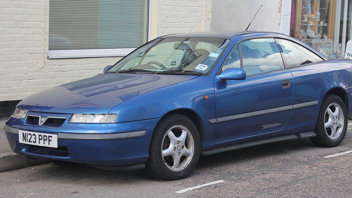 1995-modell Vauxhall Calibra etter en mild facelift.