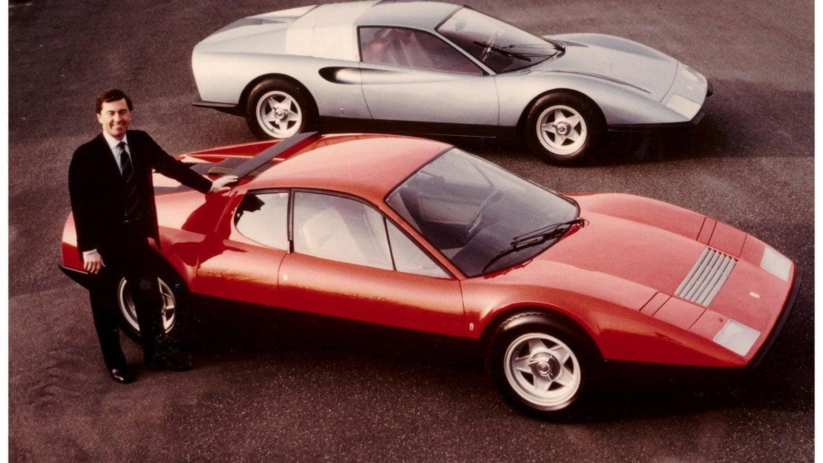 Leonardo Fioravanti foran BB som han designet. I bakgrunnen hans P6 konsept.