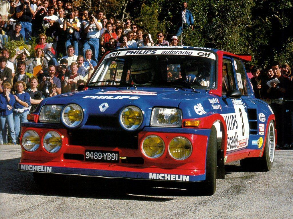 Under Rally Korsika i 1985 tok Jean Ragnotti seieren i sin Renault 5 Maxi Turbo.