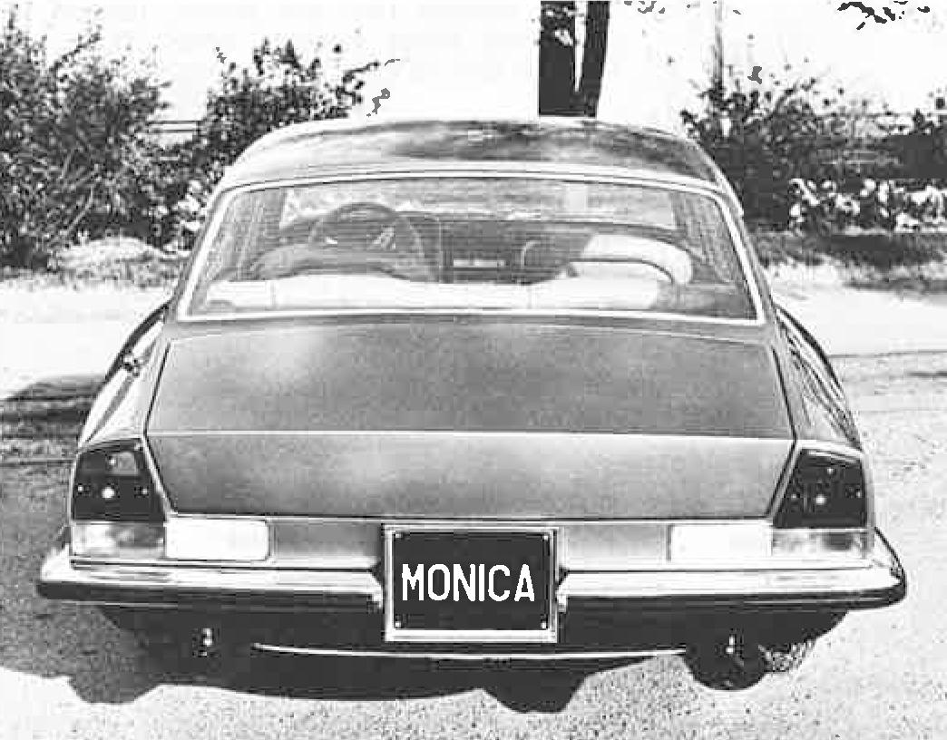 Rett bakfra var kanskje bilens minst vellykkede del rent designmessig.