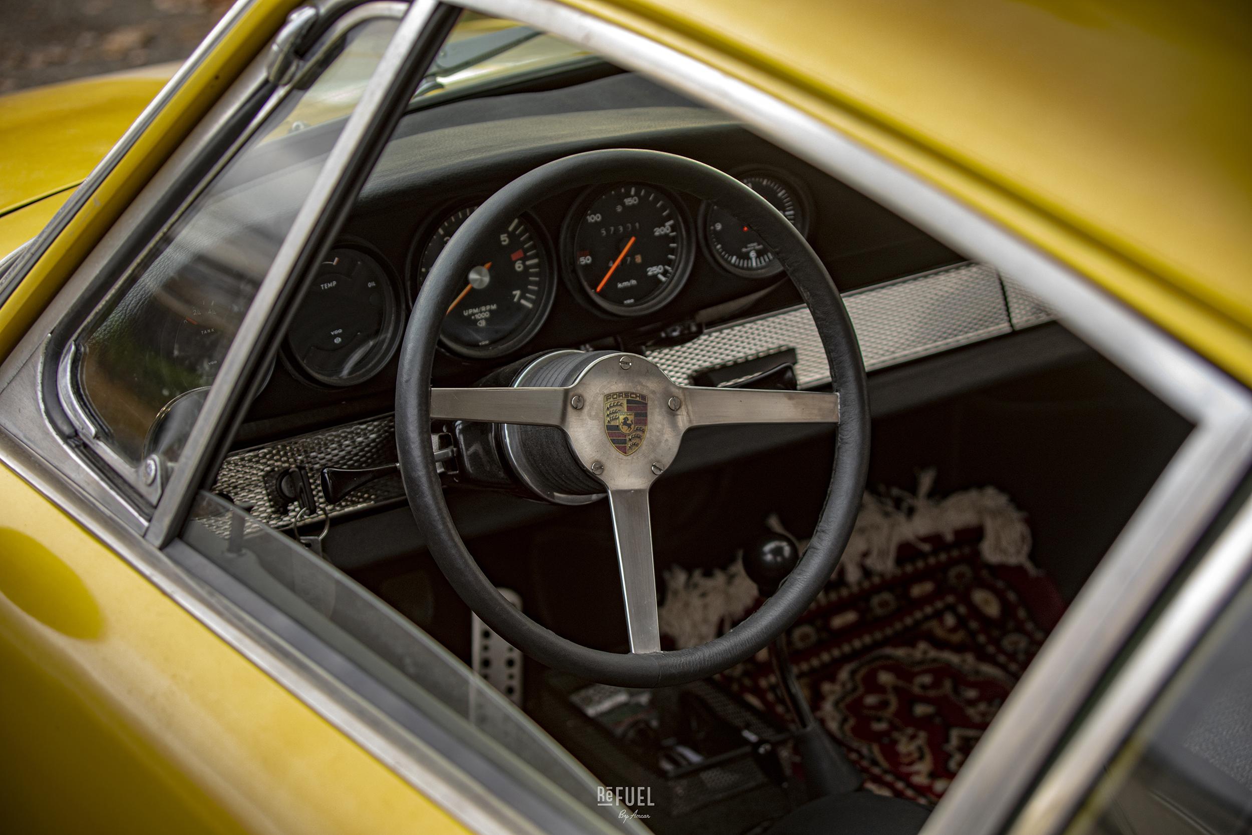 Geir bygger alltid sine egne ratt i bilene han lager til.