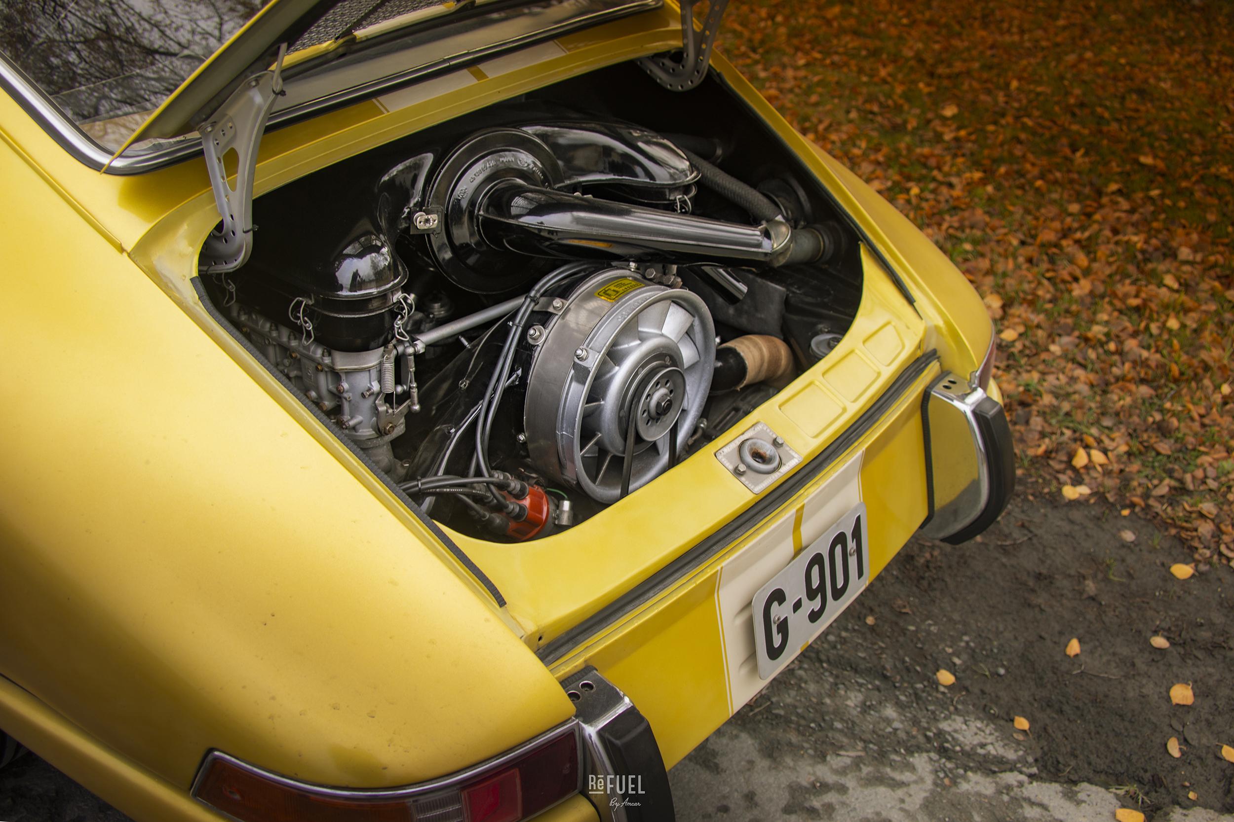 Original 911-motor boret til 2,3 liter.