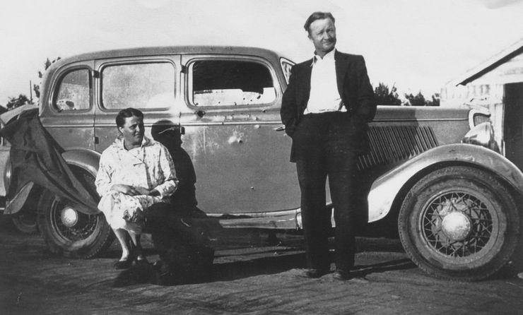Ruth og Jesse Warren, de originale eierene av bilen