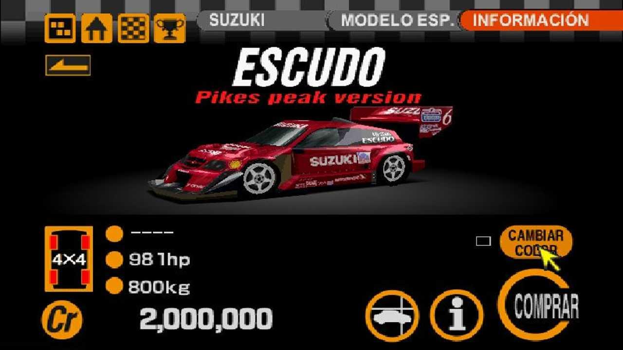 Et populært kjøp en kunne gjøre i Gran Turismo for å sikre seg seieren i vanskelige løp av nemlig denne Escudoen.