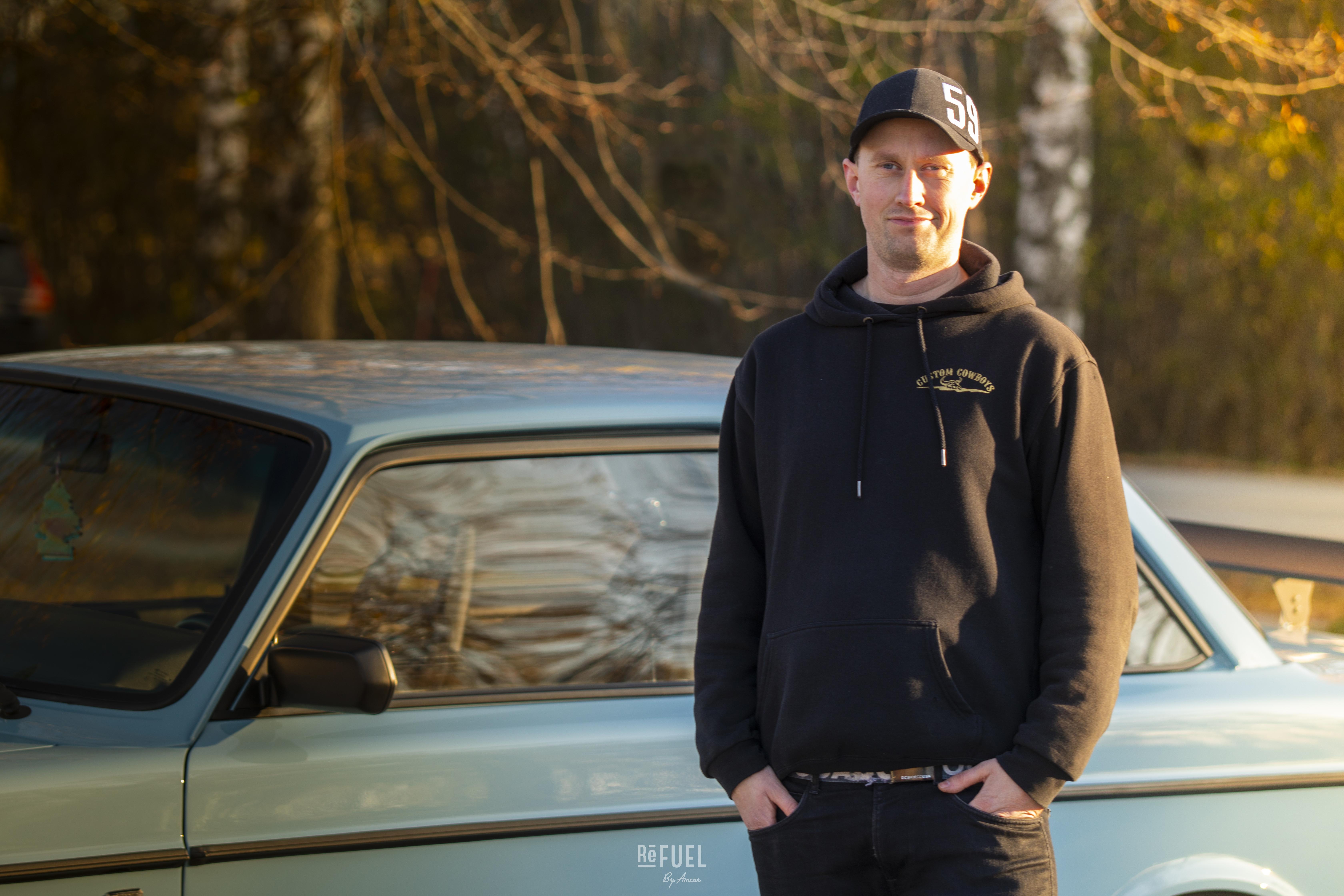 Håkon Arndal har eid bilen og hatt den som rullende prosjekt siden 2013.
