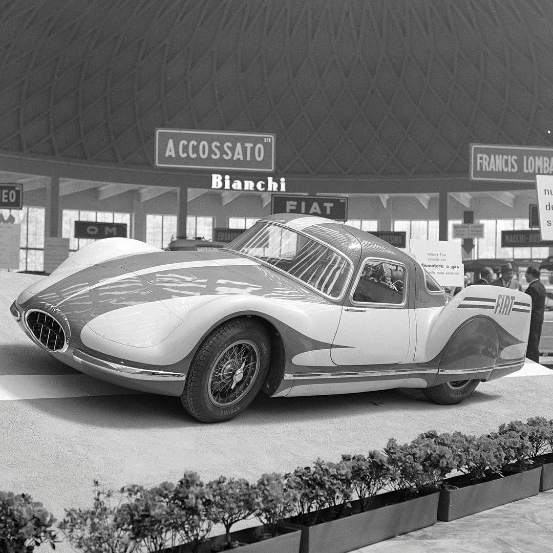 Fiat Turbina fra 1954 var stilig å se til, og fikk behørige mengder med presseomtale.