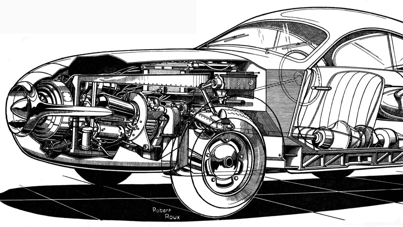 SOCEMA-Gregoire fra 1952 imponerte publikum under det årets Paris Motor Show, men prototypen med en 100-hesters gassturbin-motor var mest et PR-stunt.
