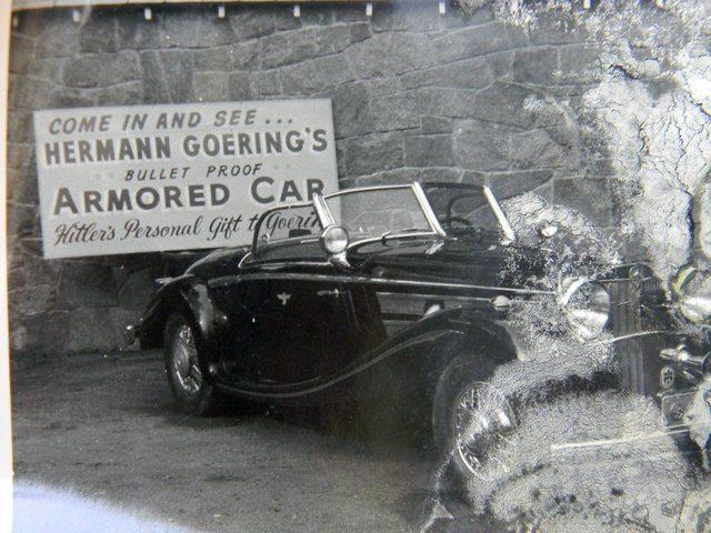 Bilen ble vist fram i 1973 som Görings bil, men var da lakkert sort.