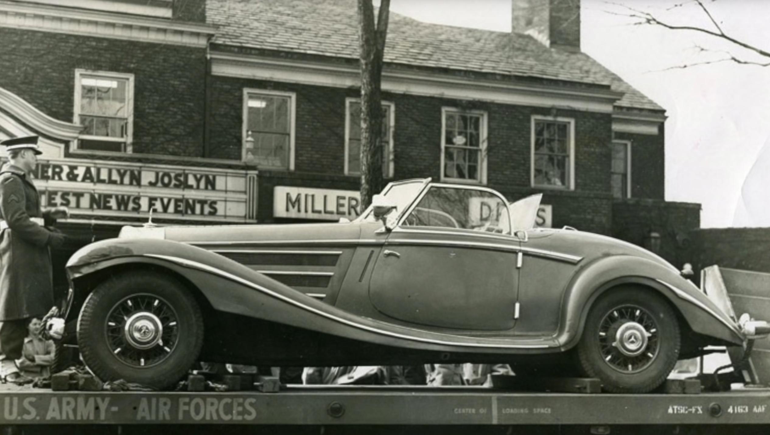 Görings Mercedes vakte stor interesse da den ble vist rundt om i USA.