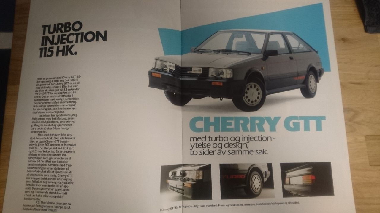 NISSAN CHERRY GTT TURBO