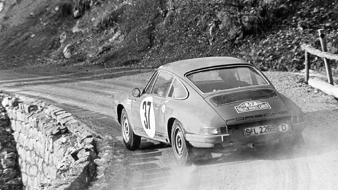 Björn Waldegård ladet maksimalt og vant Rally Monte Carlo tre år på rad i en 911.