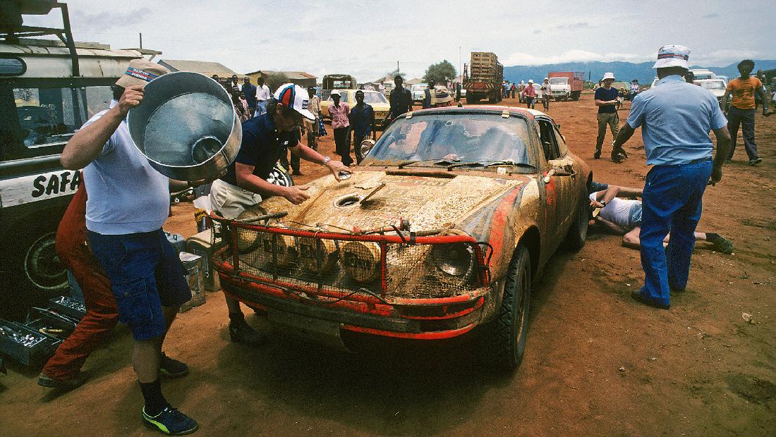 En Porsche 911 tåler juling, og kan brukes i alle billøp, også Safari-rally.