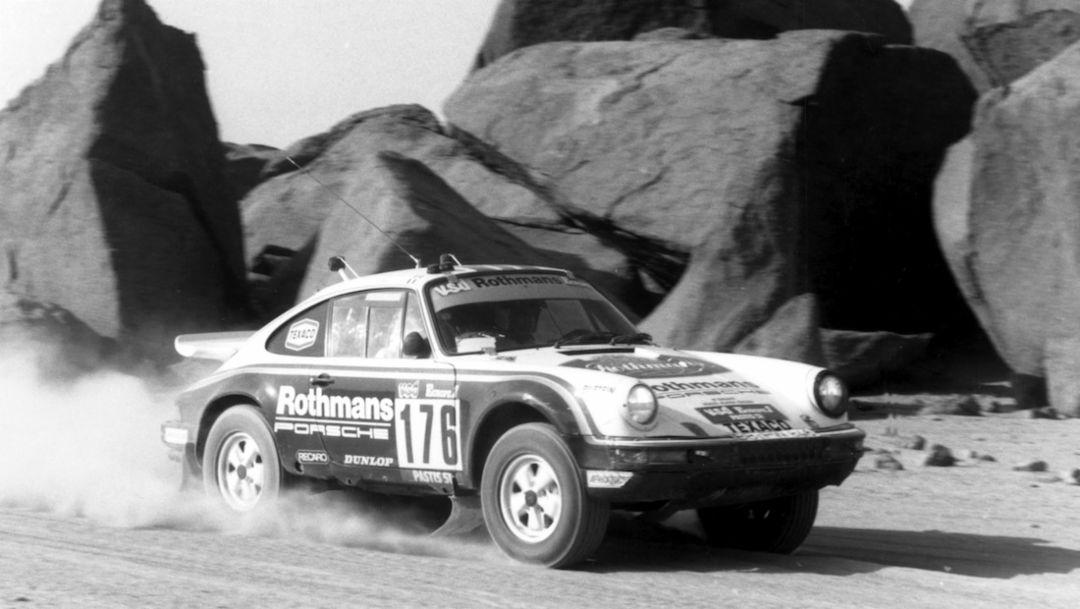 I 1984 vant Porsche verdens hardeste billøp, Paris-Dakar, med en firehjulsdrevet 911 Carrera (internkode 953). En ny seier kom i 1986 med en 959.