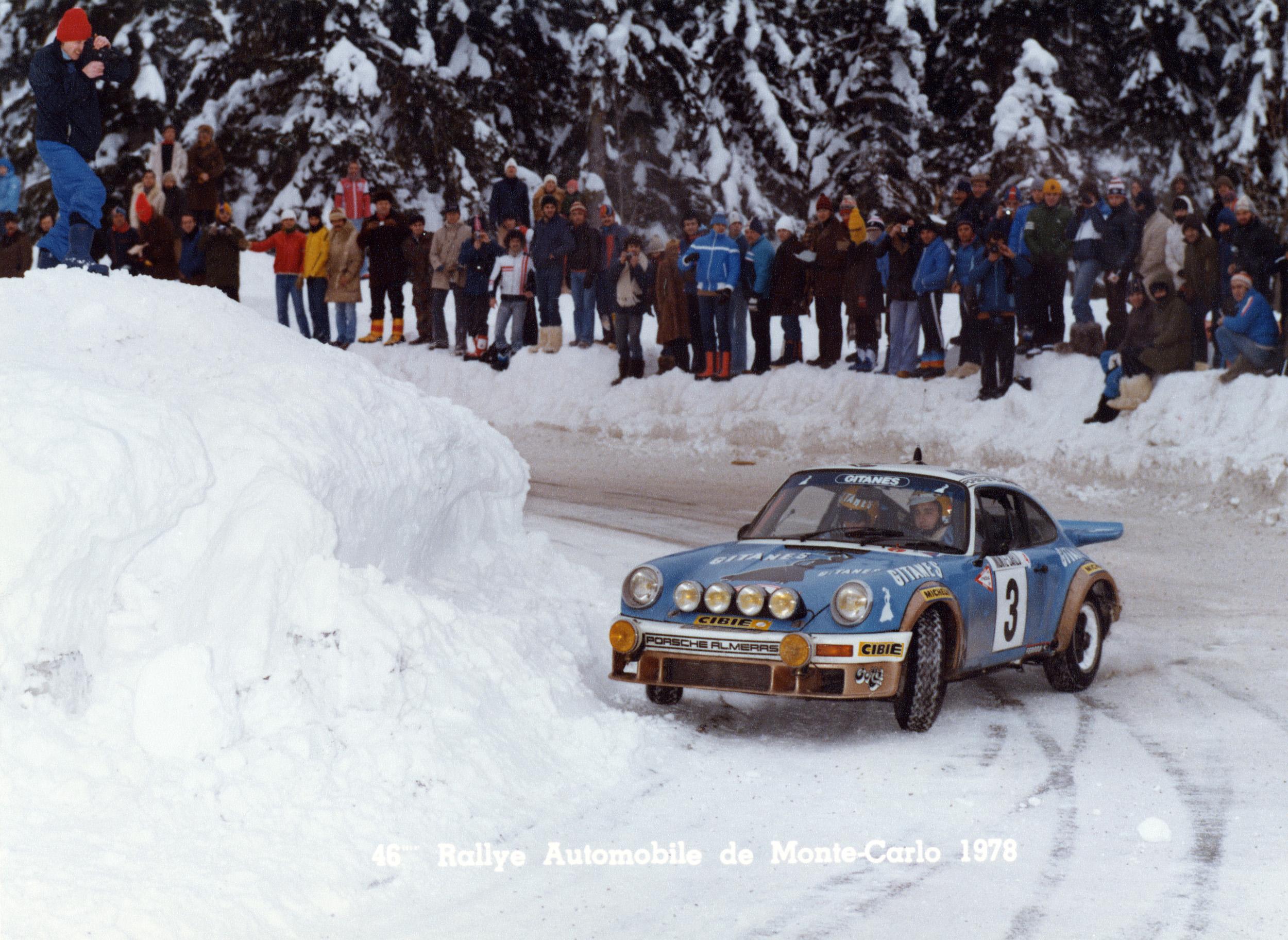 I 1978 vant Jean-Pierre Nicolas Rally Monte Carlo med sin 911 SC.