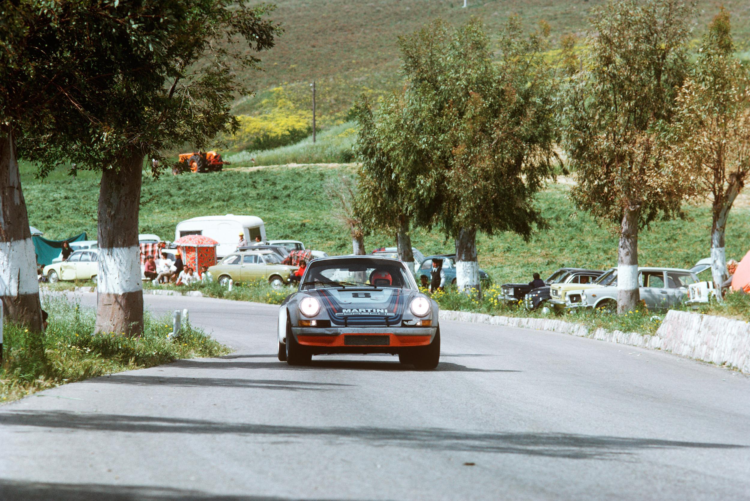 I 1973 vant Herbert Müller og Gijs van Lennep i en 911 RSR det mest beryktede billøpet i verden langs vanlige veier: Targa Florio.