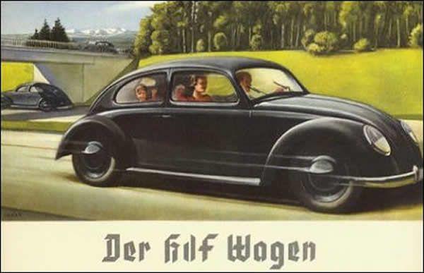 Reklame for folkets KDF-wagen.