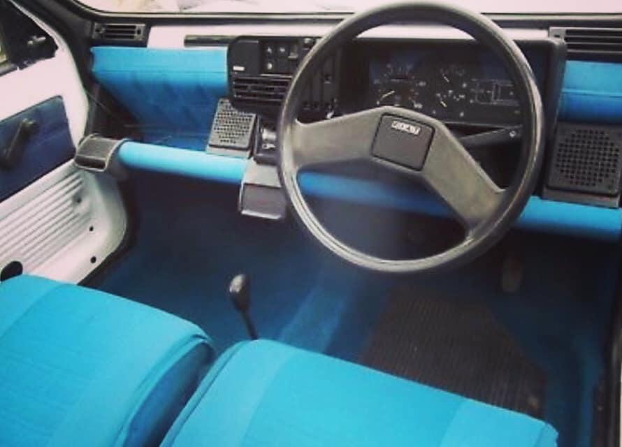 Matchende farge I dashbordet. Foto: Fiat Panda Italia 90 register
