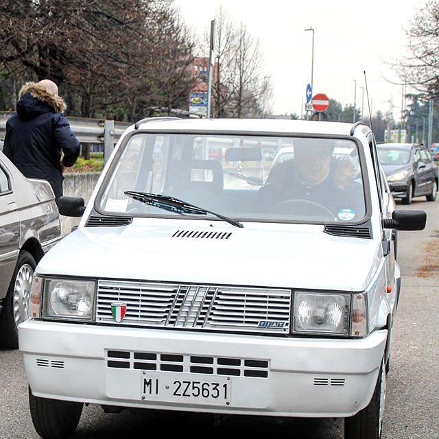 En av bilene med Scudetto i grillen. Foto: Fiat Panda Italia 90 register