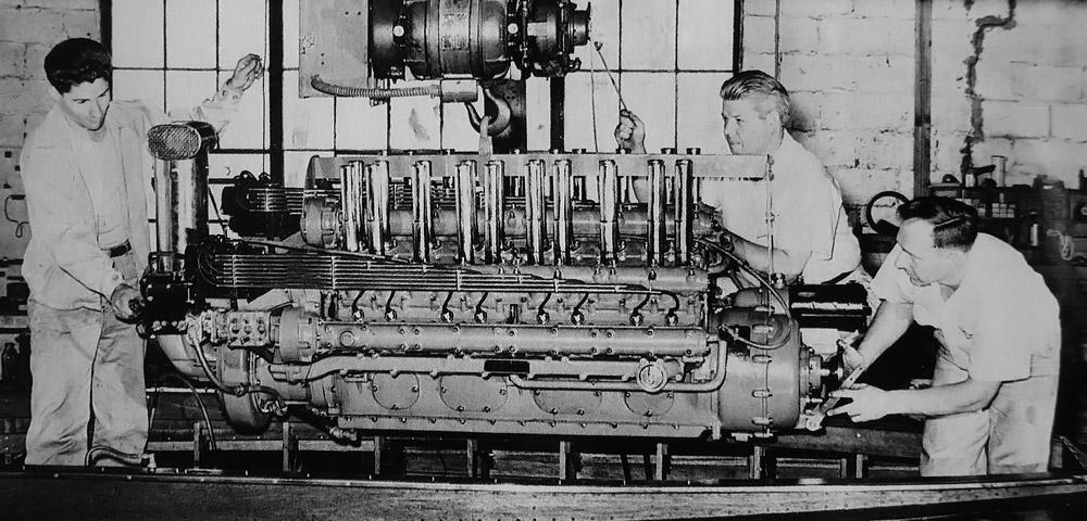 W-24'en installeres i båten «Notre Dame» i 1935