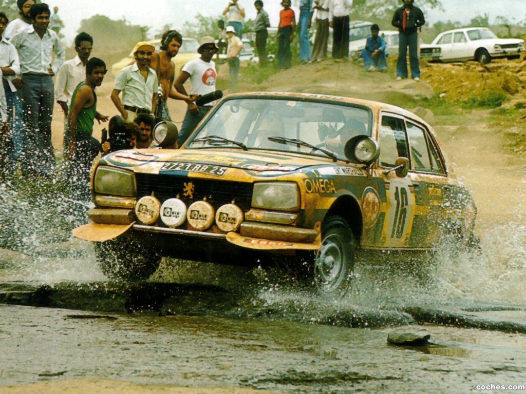 504 vant flere VM-runder i rally på det afrikanske kontinentet, hvor bilene først og fremst måtte være ekstremt sterke og holdbare.