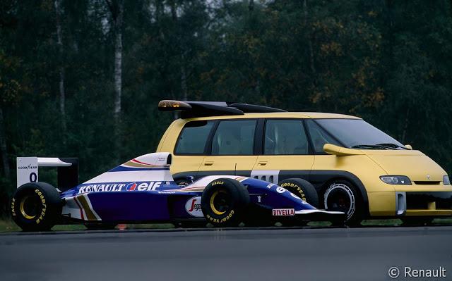 Williams Formel 1-bil hadde 100 hestekrefter mindre(1) enn Espace F1.