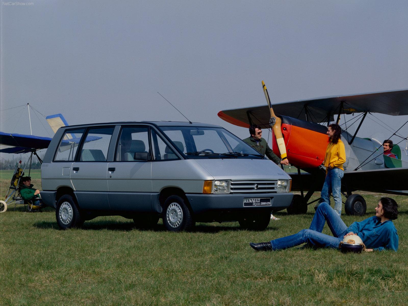 Slik så Renault Espace ut i den spede begynnelsen i 1984.