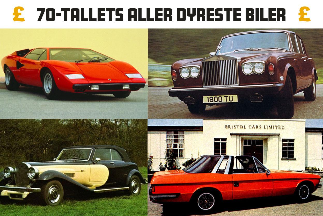 20 dyreste biler i 1978