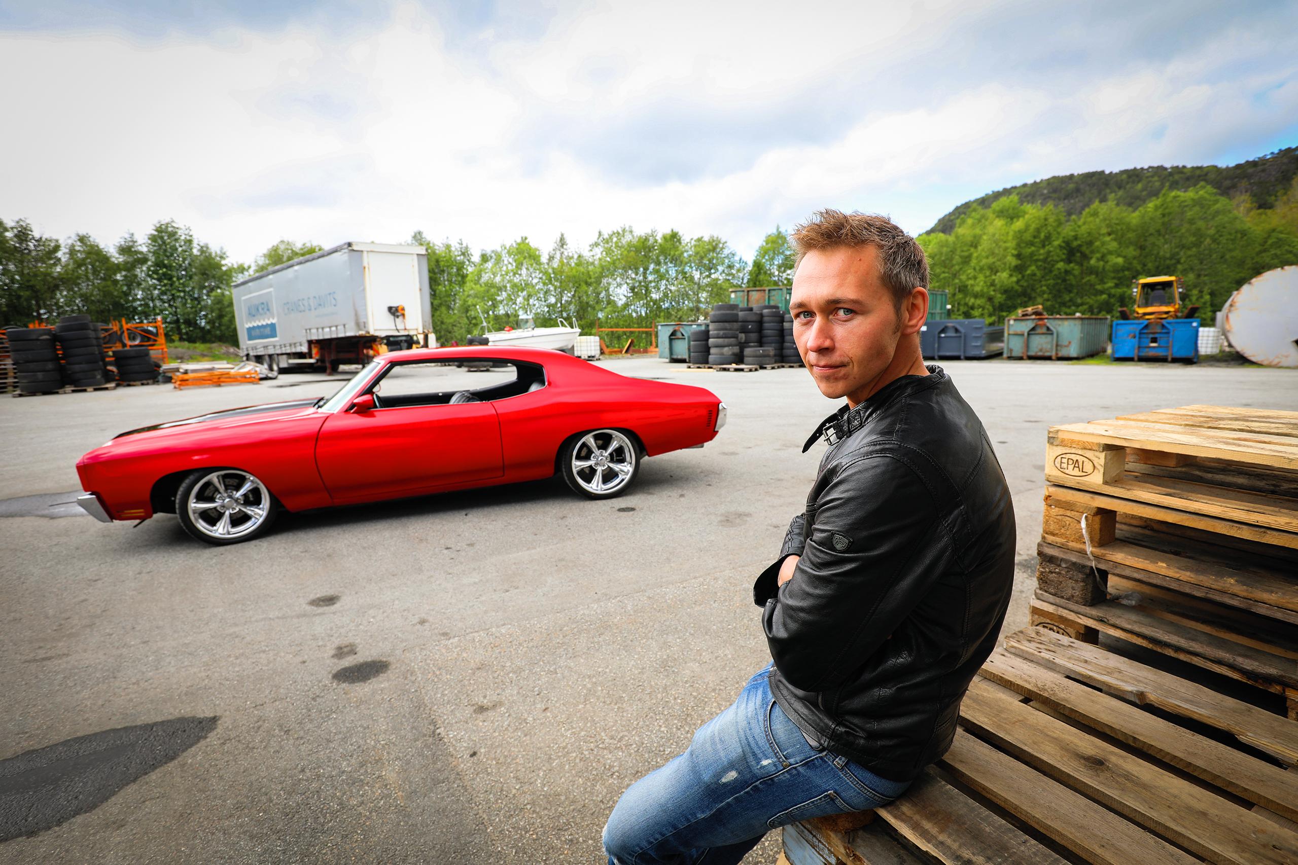 Erik Sørøy og hans spinnville Chevelle.