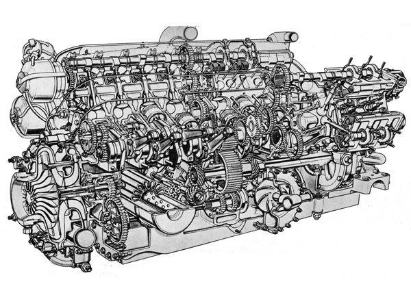 BMW V16 i tverrsnitt