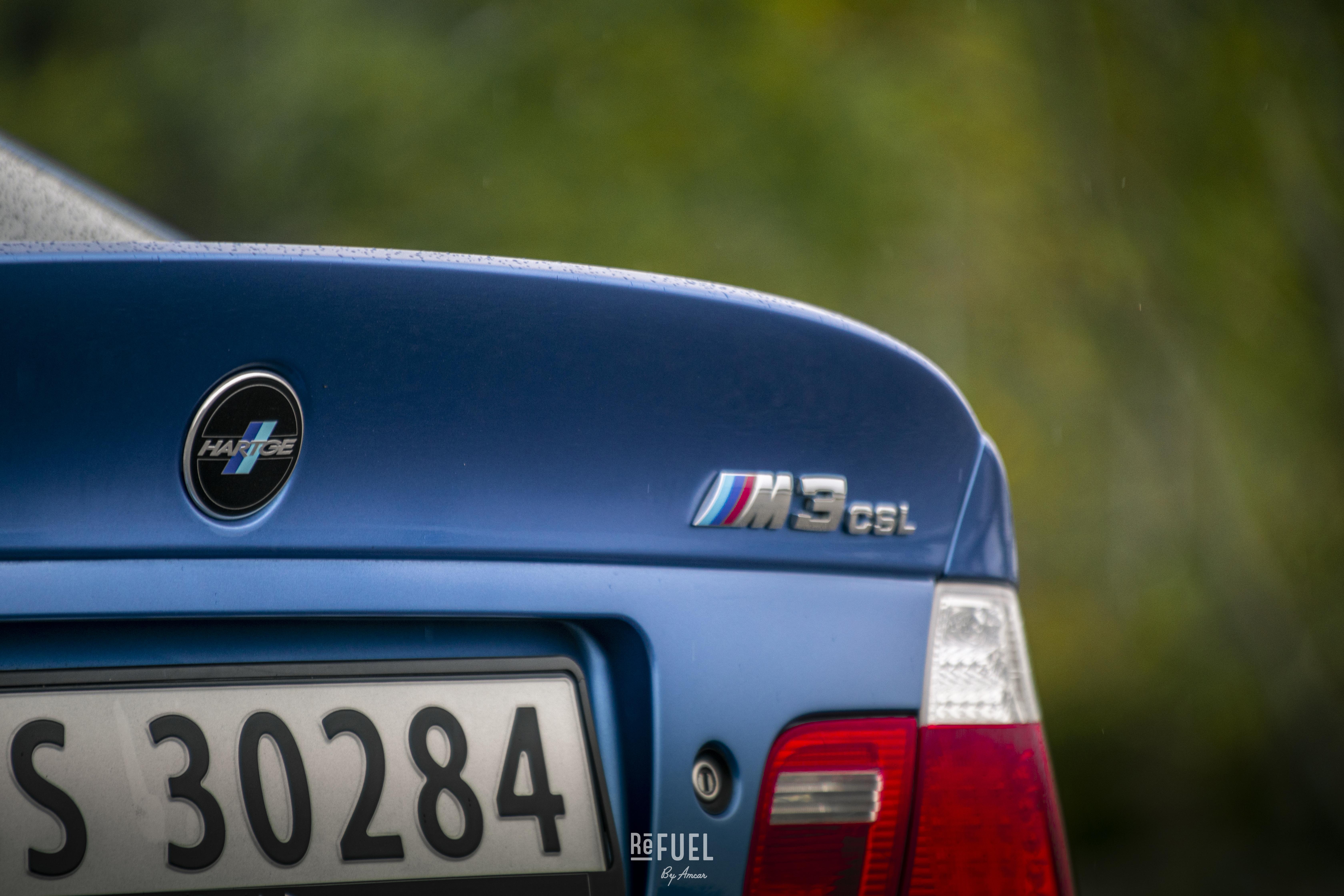 Den helt spesielle emblem-komboen Hartge M3 CSL pryder bakenden.