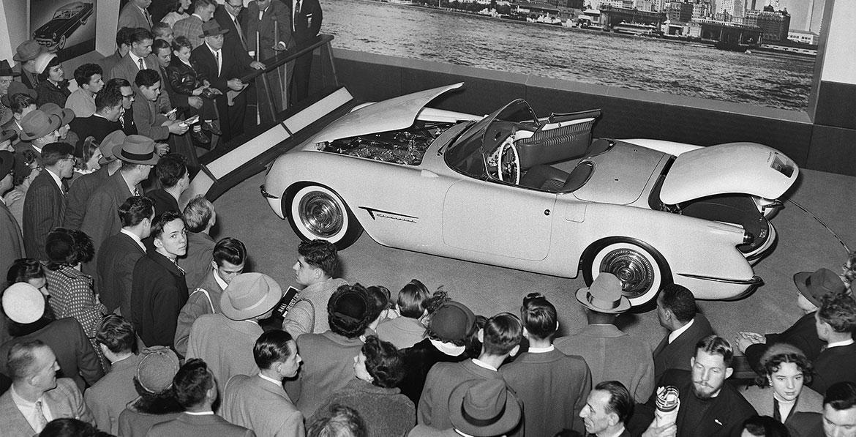 Fra Motorama i 1953, da Corvette ble avduket