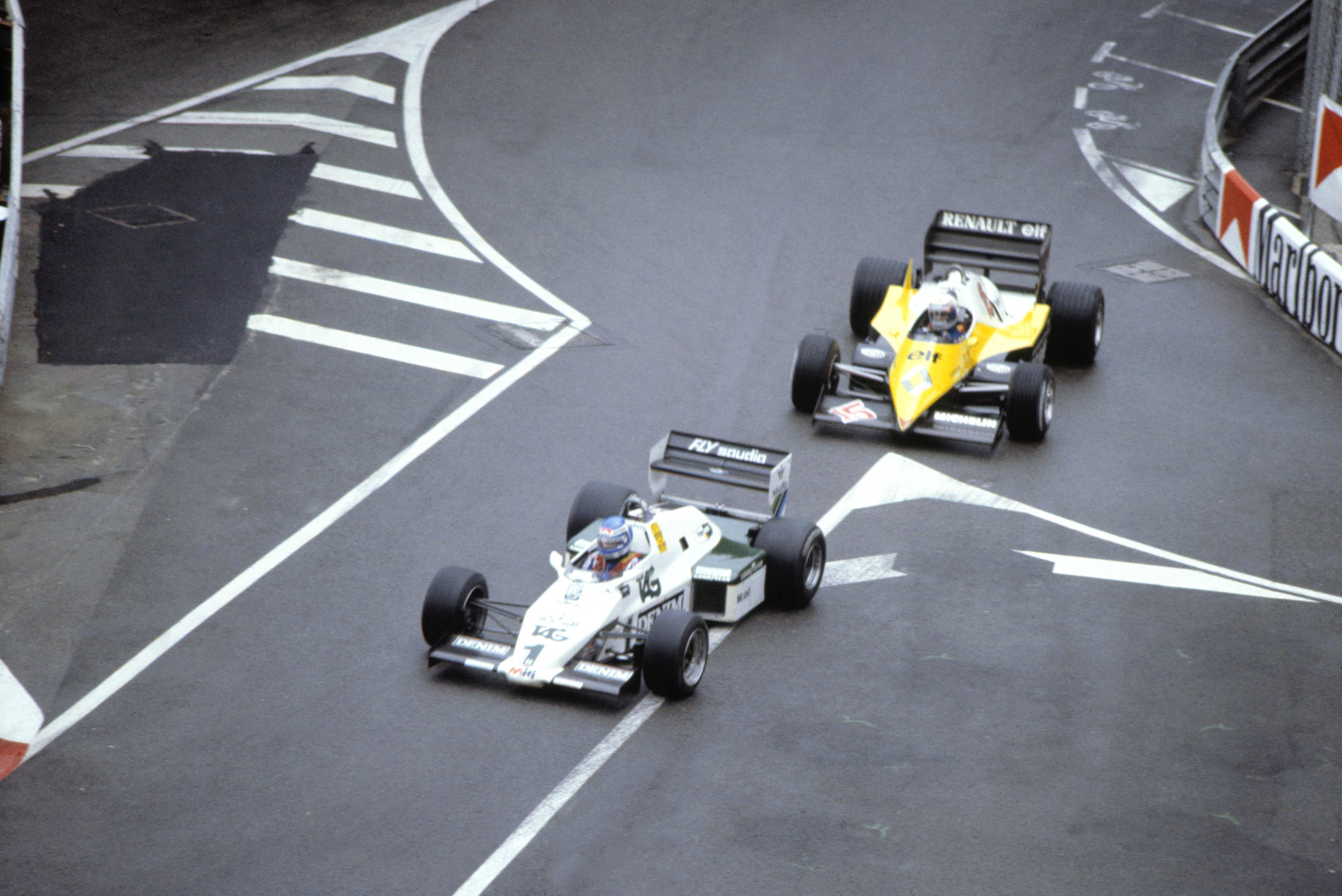 Keke Rosberg og Alain Prost Monaco 1983.