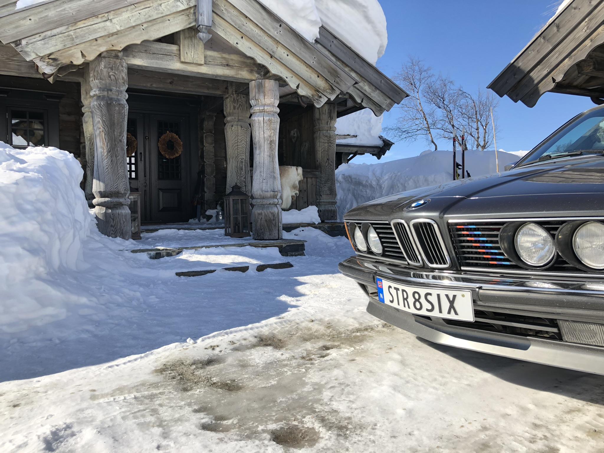 Thomas har ikke vært redd for å bruke bilen, selv på vinterføre.