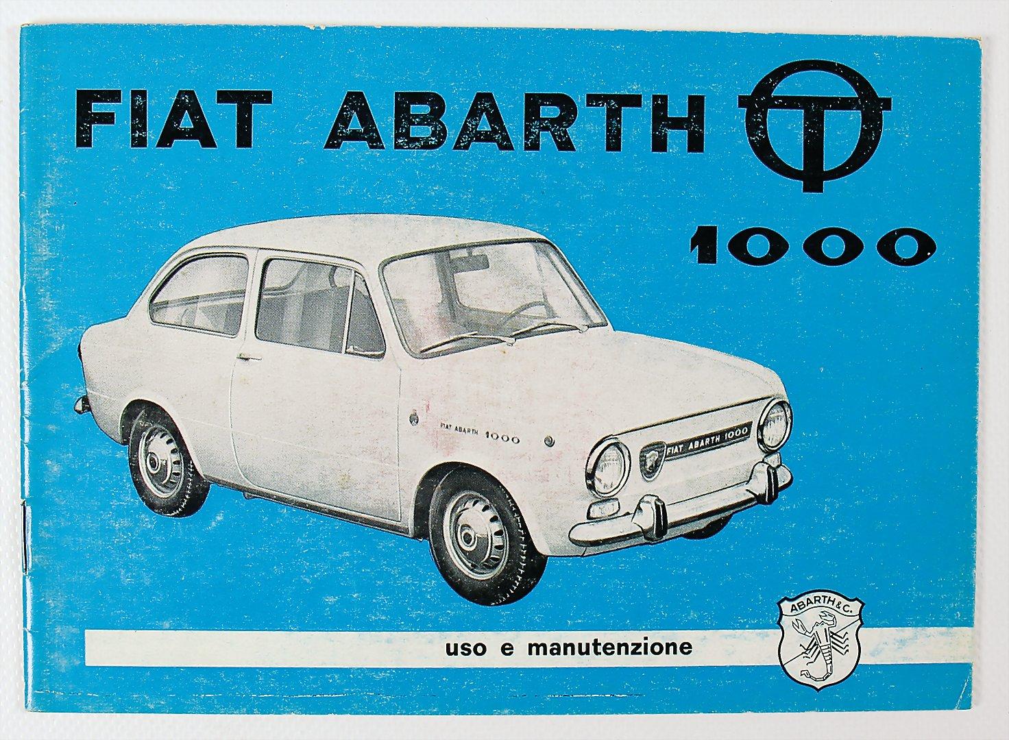 Brosjyreforside for Abarth 1000