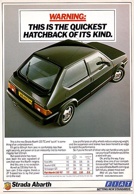 Fiat Ritmo Abarth 130TC var 80-tallets raskeste GTI-bil.