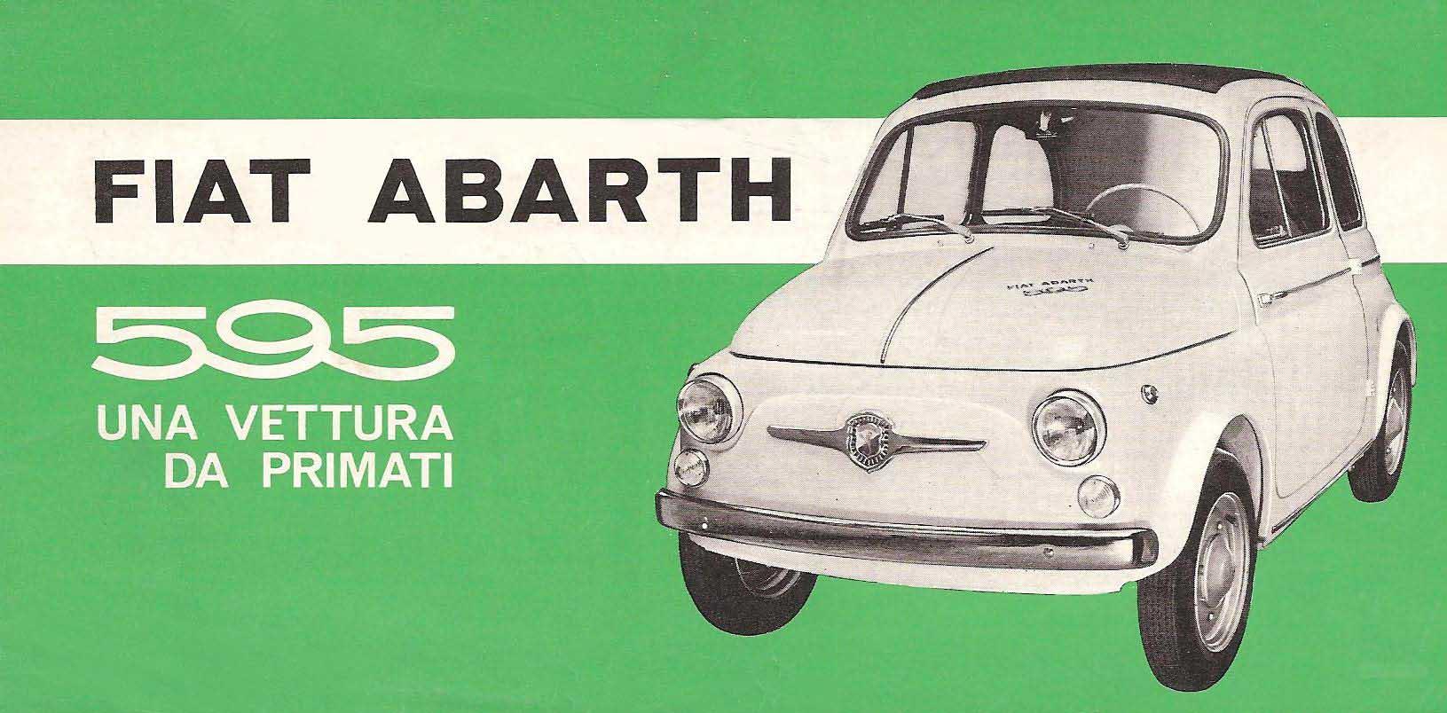 Brosjyre for Abarth sin 595-versjon av Fiat 500.