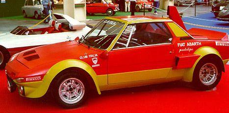 Abarth jobbet en stund med en rallyversjon av Fiat X1/9, men arbeidet ble avlyst til fordel for Fiat 131.