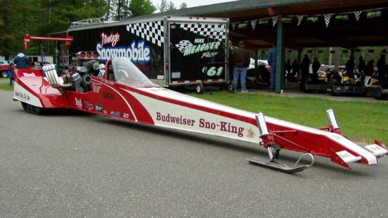 Budweiser Sno-King har den uoffisielle rekorden på 323 kilometer i timen