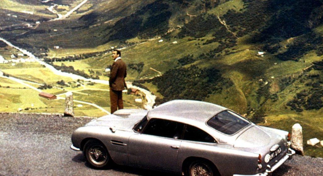 I Alpene med bilen i Goldfinger
