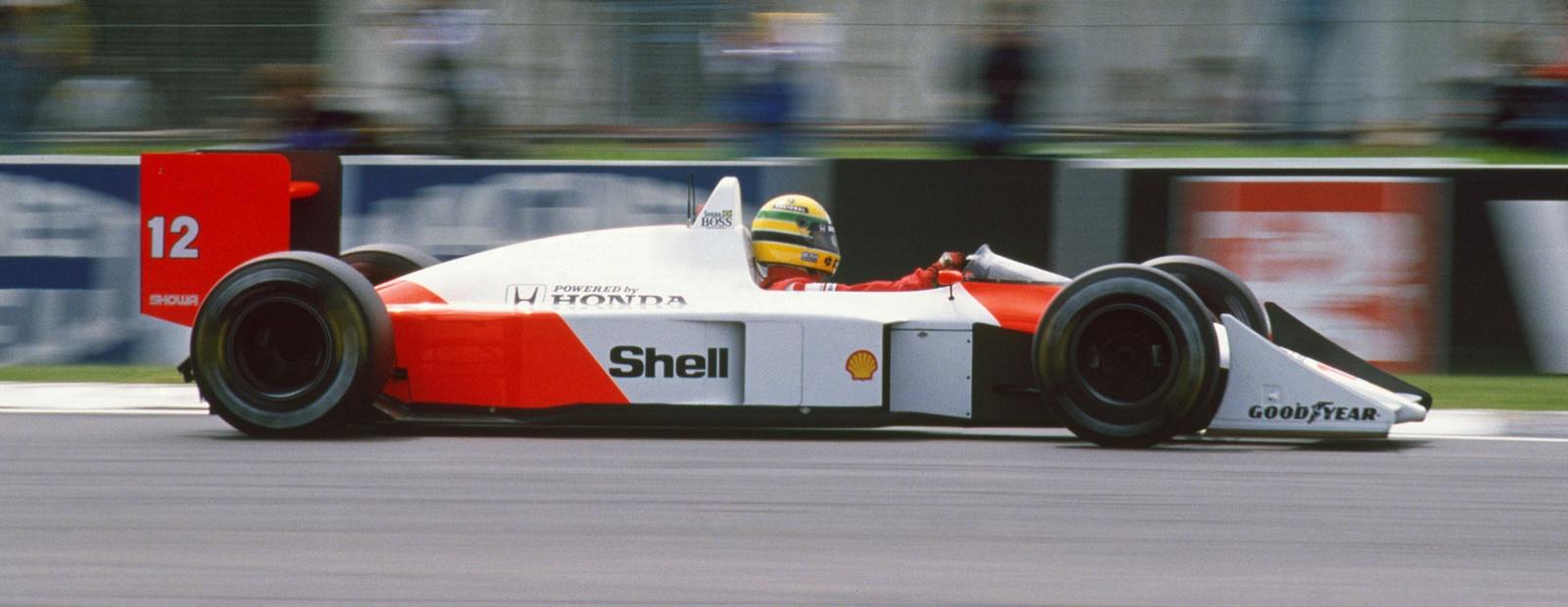 Sideprofilen til McLaren sin 1988-bil, sammenlign med Brabhamen fra 1986.