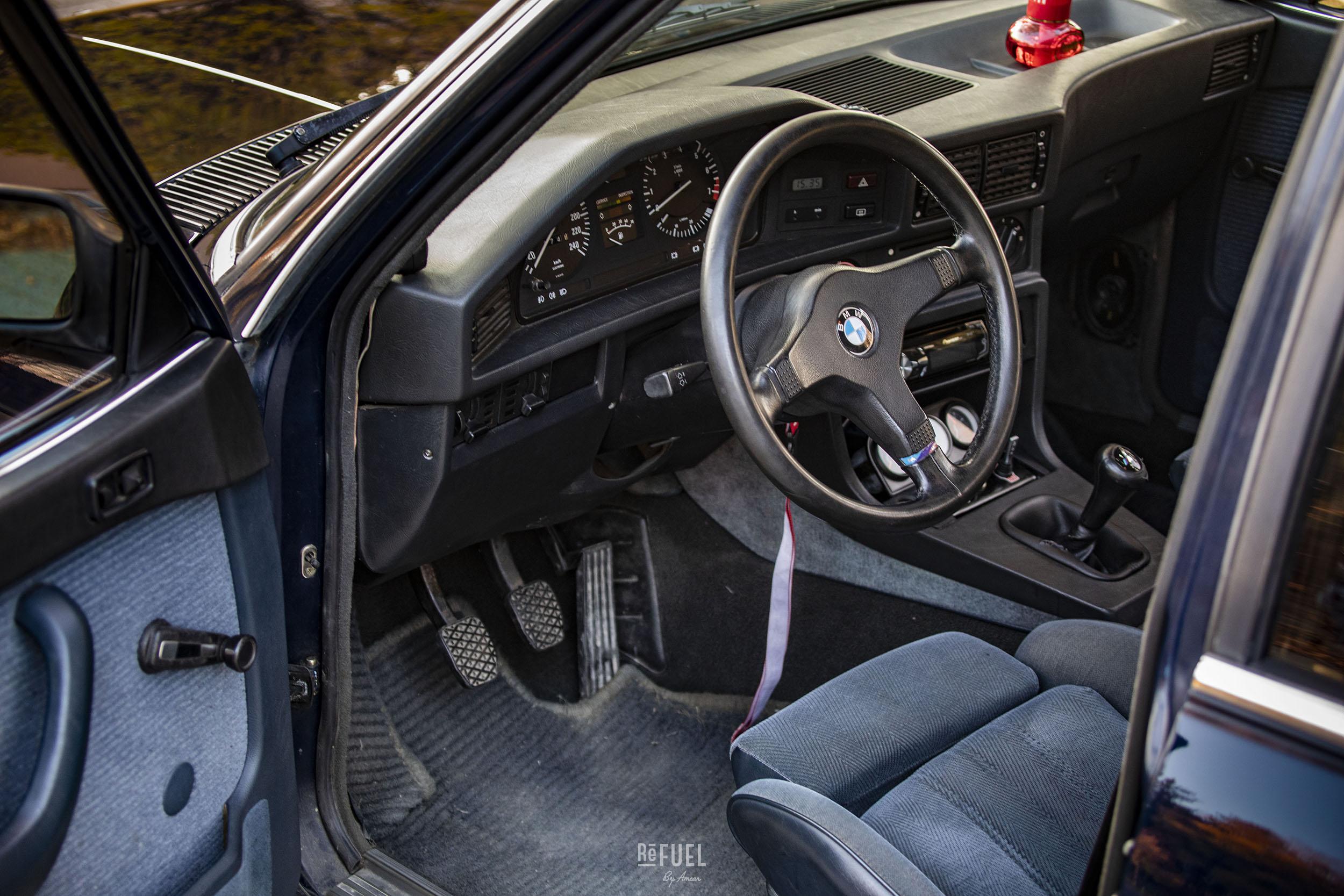 Interiøret er oppgradert til M-sport.