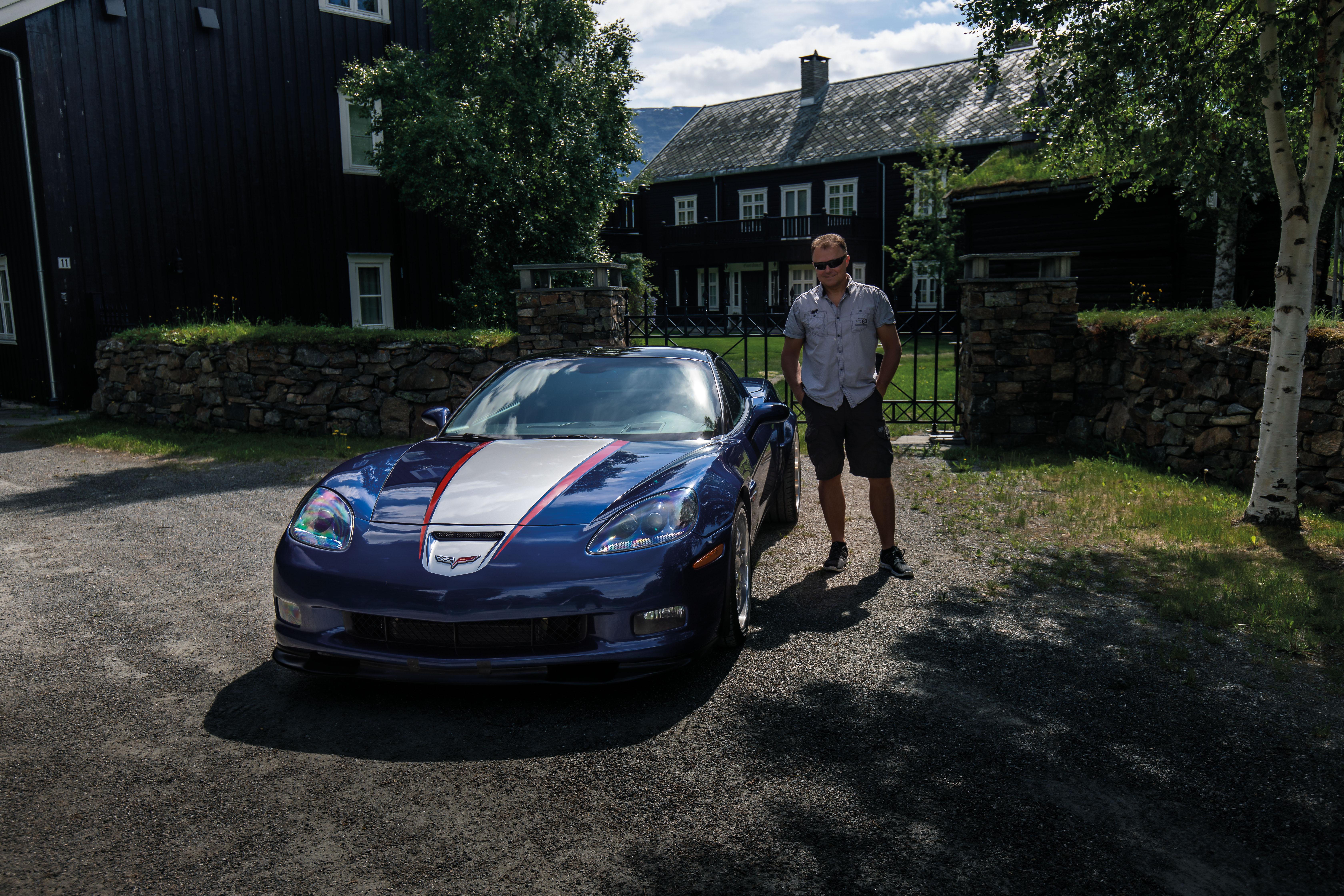 Roger Aalmen og hans nydelige Corvette