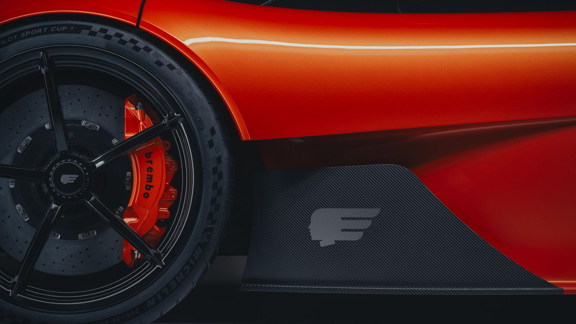 Gordon Murray Automotive sin logo kan ses her.