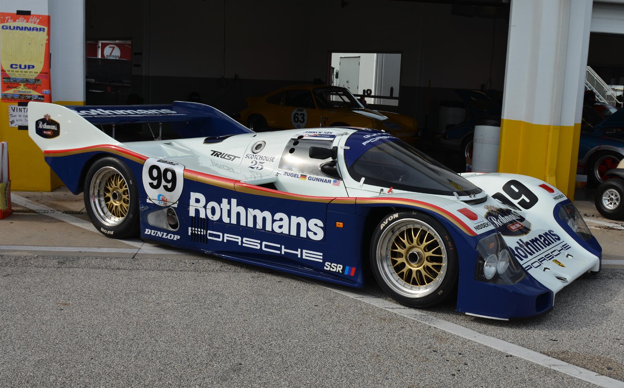 Både Porsches berømte 962 og 956 ble utstyrt med BBS. Bilde: BBS Archives