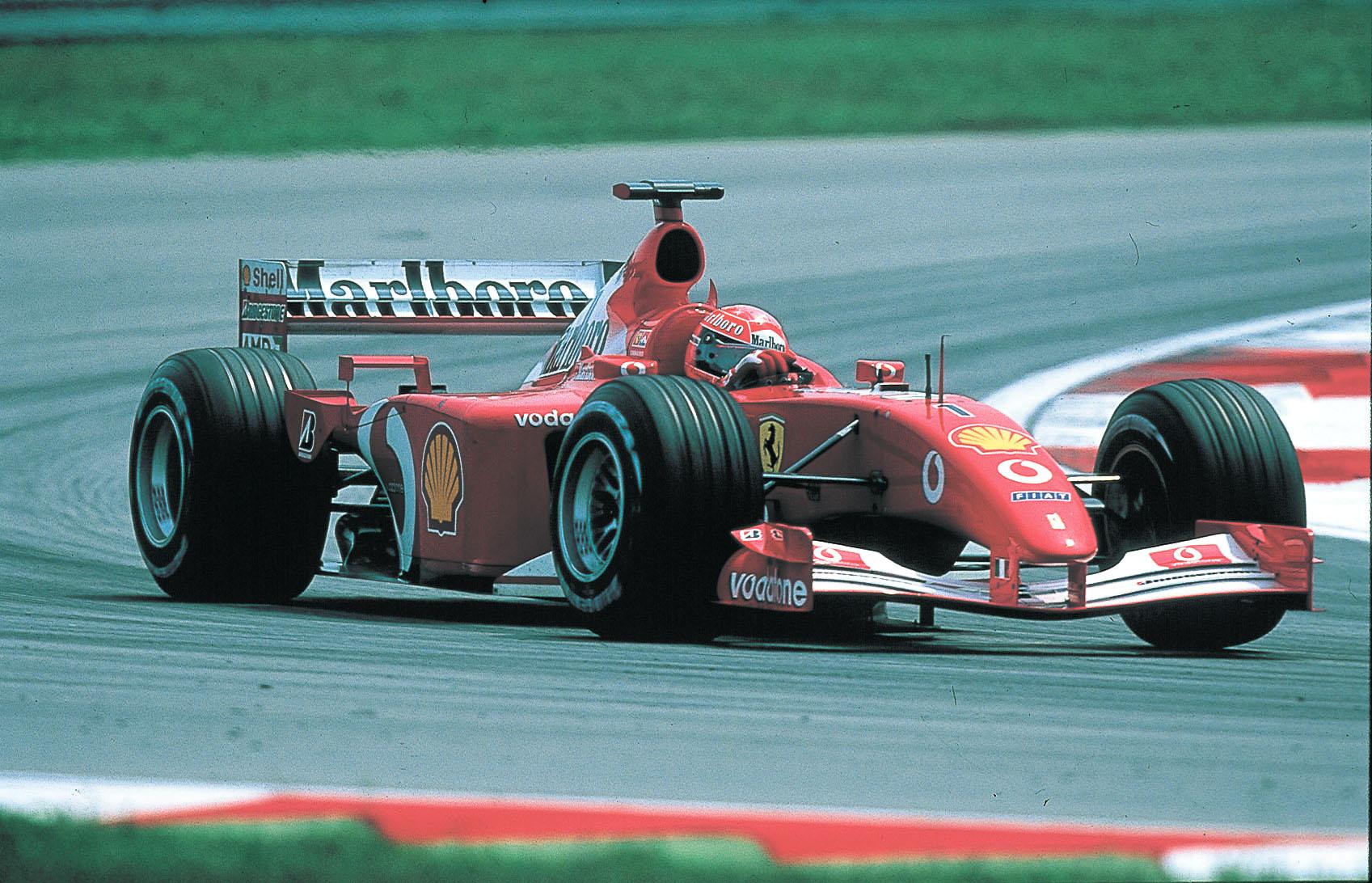 Ferrari sin F1-bil i 2002-sesongen. Bilde: BBS Archives.