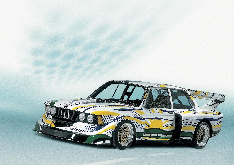 En 1977 BMW 320i gruppe 5 Art Car av Roy Lichtenstein, utstyrt med BBS-felger. Bilde: BBS Archives