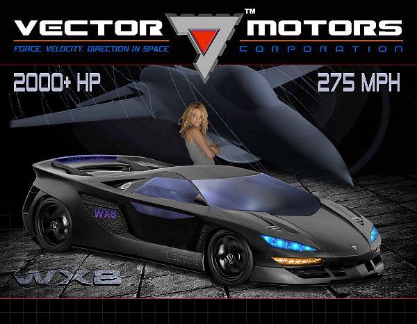 Vector WX8 med beskjedne ytelser oppgitt på PR-materialet