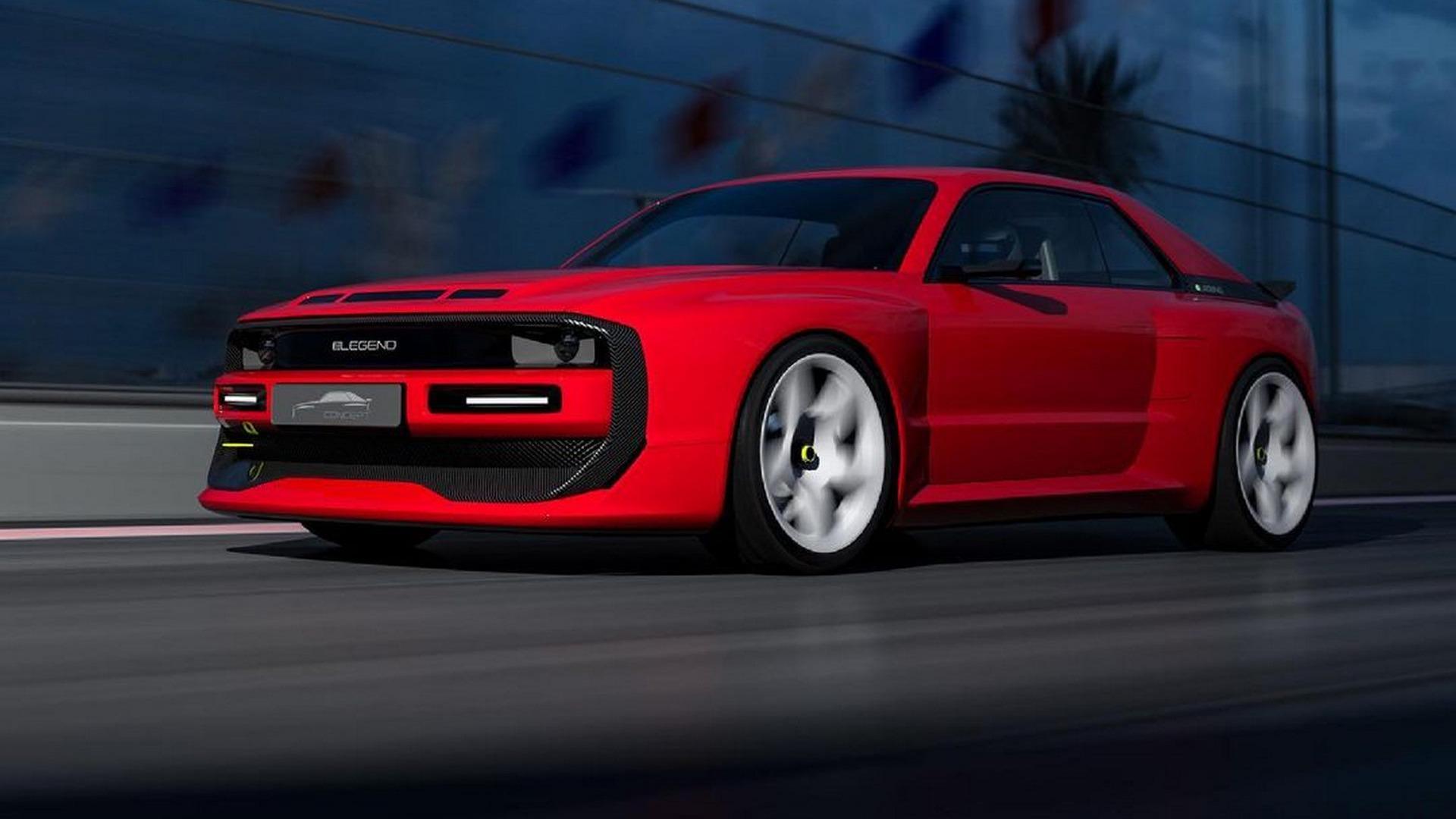 Tidligere render der man får bilen i sin karakteristiske farge.