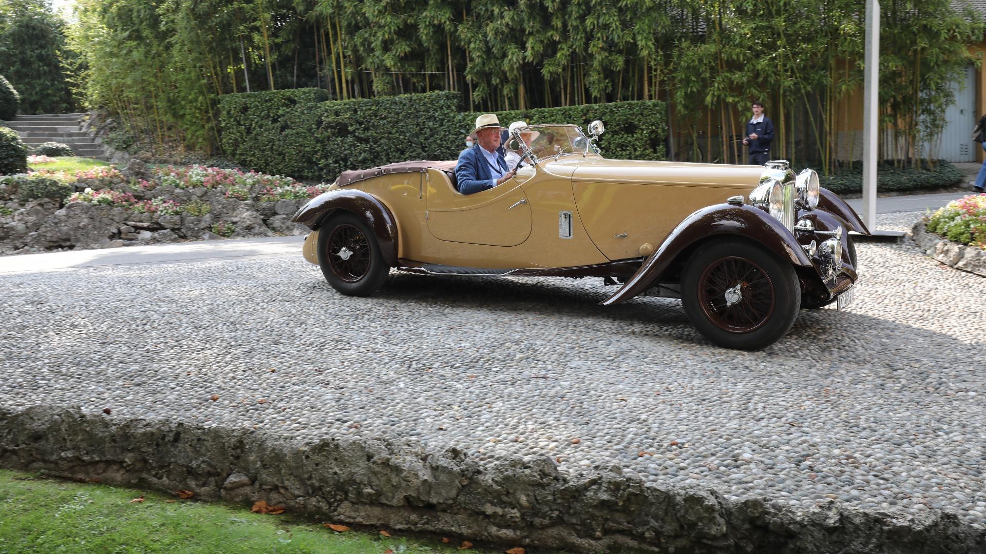 En stilfull 1937 Lagonda LG45 Rapide. Med sin 4,5-liters sekser under panseret var bilen god for 160 km/t.