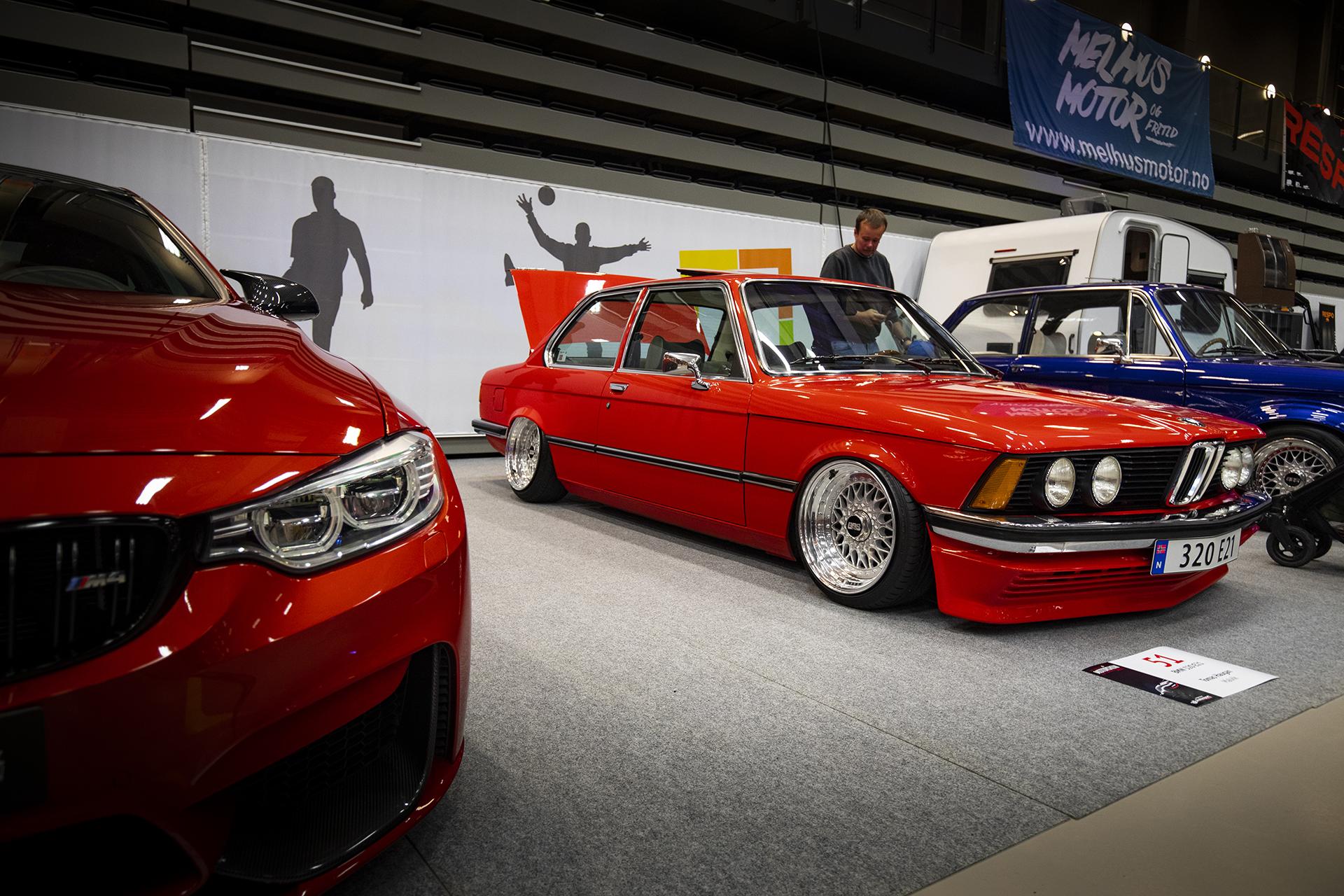 Tomas Haugen deltok med en smakfull BMW 320 E21 på luft!